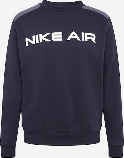 Nike Sportswear Sweat-shirt en gris chiné / noir / blanc, Vue avec produit