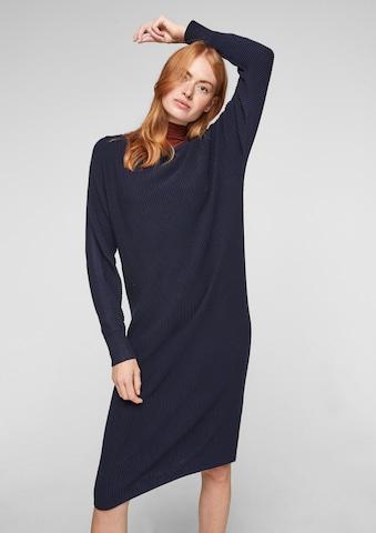 s.Oliver Gebreide jurk in Blauw