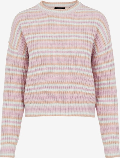 PIECES Pullover 'Gina' in mauve / apricot / pink / weiß, Produktansicht