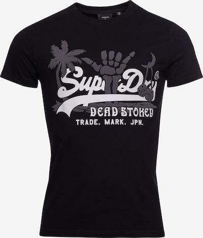 Superdry Shirt in hellgrau / schwarz, Produktansicht
