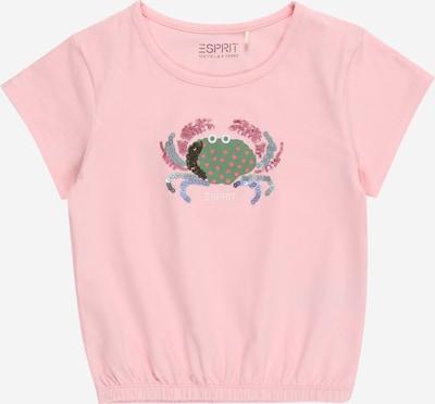 ESPRIT KIDS T-Shirt in rauchblau / pastellblau / rosa / dunkelpink / weiß, Produktansicht