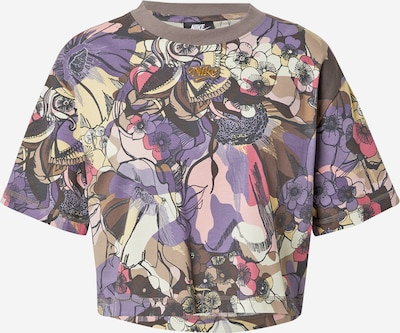 Tricou Nike Sportswear pe gri taupe / lila / roz / alb, Vizualizare produs