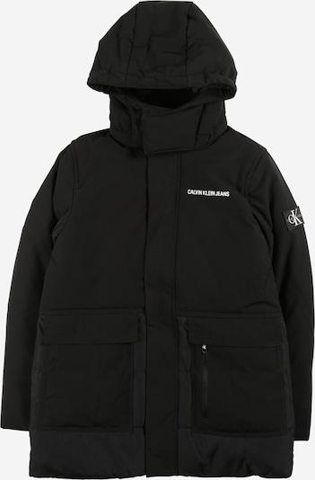 Calvin Klein Jeans Prijelazna jakna u crna / bijela, Pregled proizvoda
