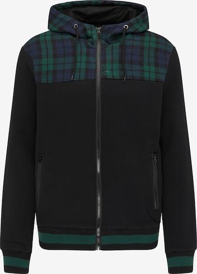 MO Tepláková bunda - námornícka modrá / smaragdová / čierna, Produkt
