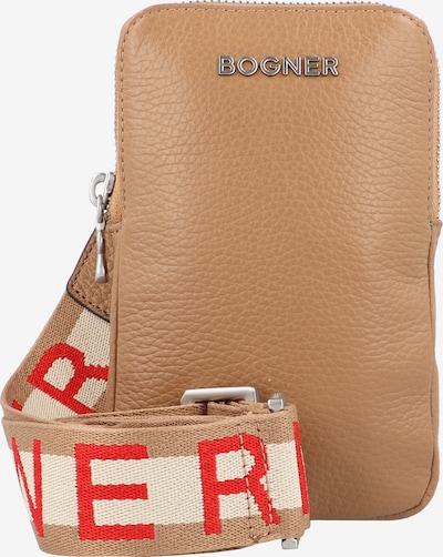 BOGNER Smartphonehoesje 'Andermatt' in de kleur Beige / Bruin / Rood, Productweergave