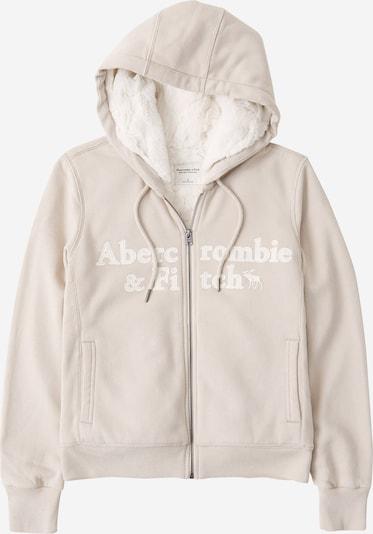 Abercrombie & Fitch Sweatjacke in creme / weiß, Produktansicht