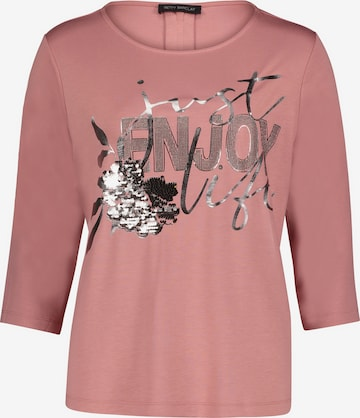 Betty Barclay Casual-Sweatshirt mit Reißverschluss in Pink