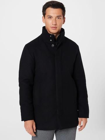 Manteau mi-saison 'Dunham' JACK & JONES en noir