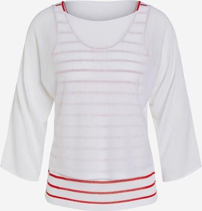 OUI Pullover in rot / weiß, Produktansicht