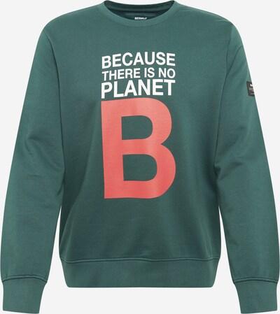 ECOALF Sweatshirt 'GREAT' in grün / rot / weiß, Produktansicht