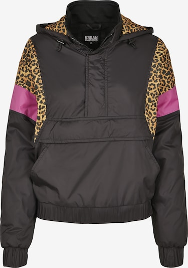 Urban Classics Jacke 'Ladies AOP Mixed Pull Over Jacket' in schwarz, Produktansicht