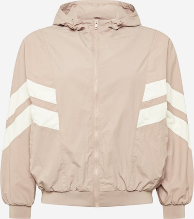 Urban Classics Curvy Jacke in sand / rosa / weiß, Produktansicht