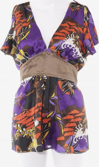 Dept. Kimono-Bluse in S in bronze / dunkellila / rot: Frontalansicht