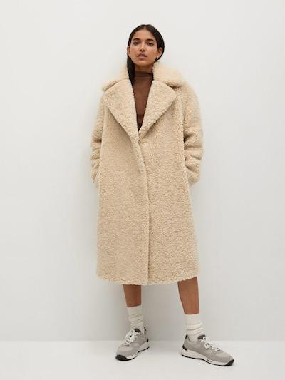 MANGO Zimný kabát 'Rizos' - krémová, Model/-ka