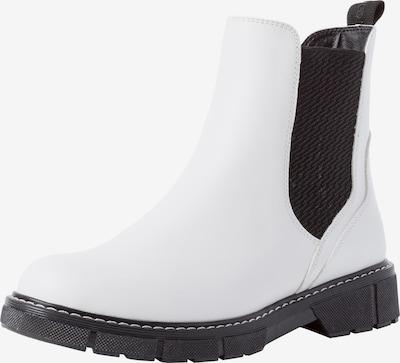 MARCO TOZZI Chelsea Boots in schwarz / weiß, Produktansicht