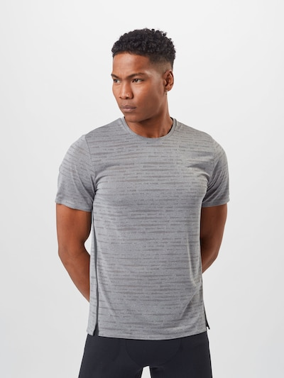 ODLO Functional shirt 'Zeroweight Engineered' in grey / greige: Frontal view