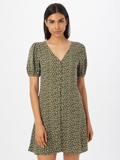 JDY Kleid 'STAAR LIFE' in grasgrün / weiß, Modelansicht