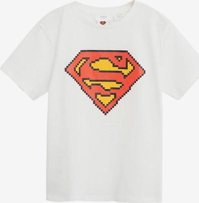 MANGO KIDS Majica 'Pixel' u boja pijeska / narančasta: Prednji pogled