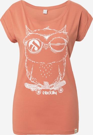 Iriedaily Shirt 'Skateowl' in de kleur Koraal / Wit, Productweergave