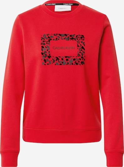 Felpa Calvin Klein di colore rosso carminio / nero, Visualizzazione prodotti