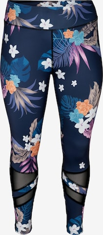Active by Zizzi Workout Pants in Blue