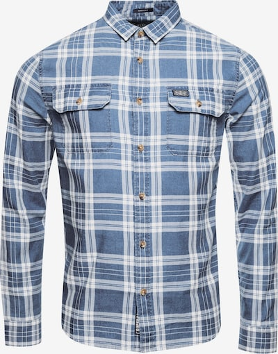 Superdry Langarmhemd 'Merchant' in blau / weiß, Produktansicht