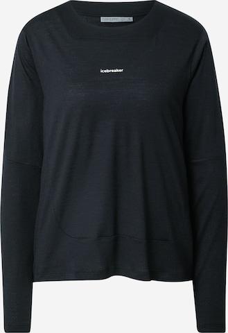Tricou funcțional 'Meteroa' de la ICEBREAKER pe negru