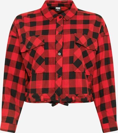 Urban Classics Bluse in rot / schwarz, Produktansicht