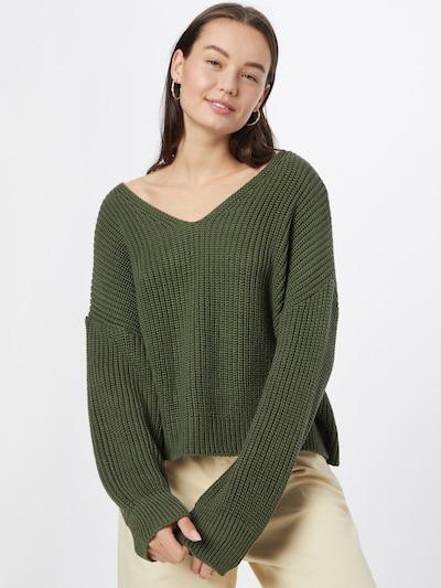 ABOUT YOU Pull-over 'Liliana' en vert foncé, Vue avec modèle
