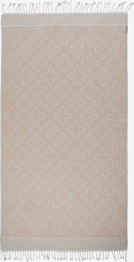 CODELLO Strandtuch mit Logo-Print aus reiner Baumwolle in beige, Produktansicht