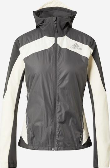 ADIDAS PERFORMANCE Jacke in dunkelgrau / weiß, Produktansicht