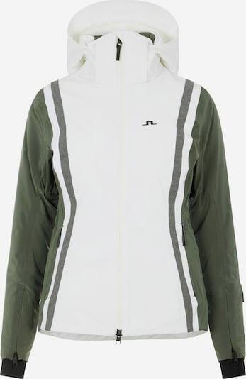 J.Lindeberg Winterjas in de kleur Groen / Wit, Productweergave