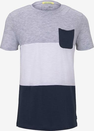 Tricou TOM TAILOR DENIM pe albastru / gri / alb, Vizualizare produs