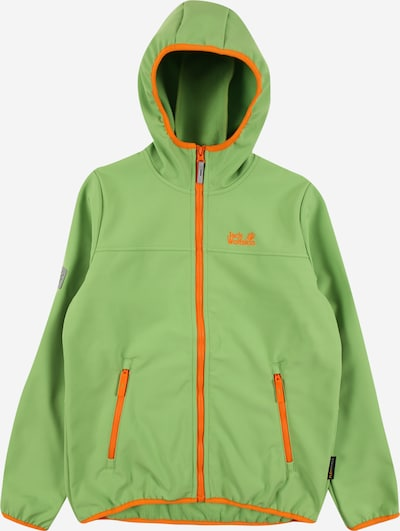 JACK WOLFSKIN Jacke 'FOUR WINDS' in hellgrün / orange, Produktansicht