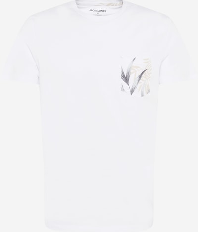 JACK & JONES T-Krekls bēšs / pelēks / balts, Preces skats
