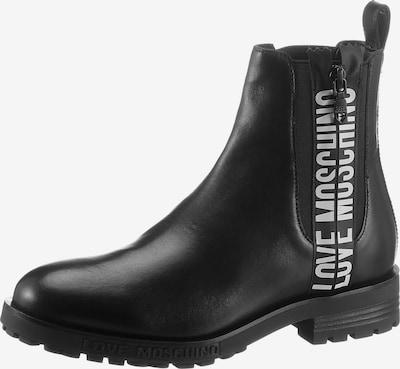 Love Moschino Chelsea Boots in schwarz / weiß, Produktansicht