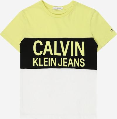 Maglietta Calvin Klein Jeans di colore limone / nero / bianco, Visualizzazione prodotti