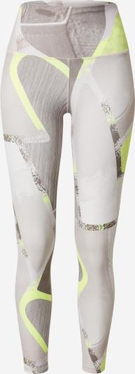 Reebok Sport Pantalon de sport en jaune fluo / taupe / greige / gris foncé, Vue avec produit