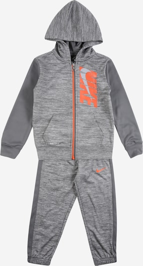 NIKE Trainingsanzug in grau / dunkelgrau / orange, Produktansicht