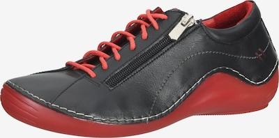 COSMOS COMFORT Sportlicher Schnürschuh in rot / schwarz, Produktansicht