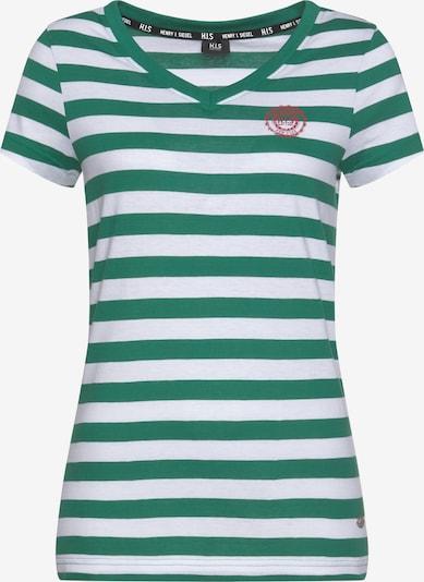 HIS JEANS T-Shirt in grün / weiß, Produktansicht