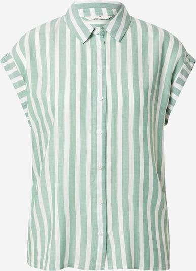 TOM TAILOR Bluse in grün / weiß, Produktansicht