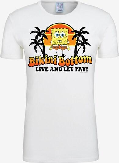 LOGOSHIRT T-Shirt 'Spongebob – Bikini Bottom' in gelb / orange / schwarz / weiß, Produktansicht