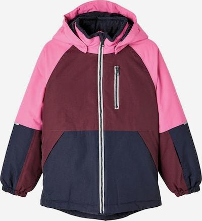 NAME IT Functionele jas in de kleur Donkerblauw / Pink / Bordeaux, Productweergave