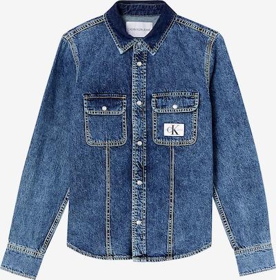 Calvin Klein Jeans Starpsezonu jaka zils džinss / balts, Preces skats