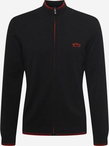 BOSS ATHLEISURE Knit cardigan 'Zotom' in Black