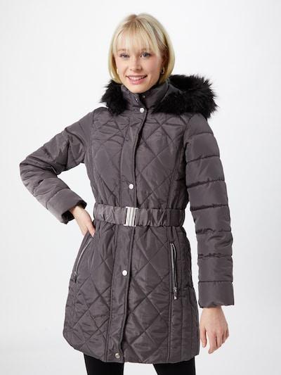 Dorothy Perkins Manteau d'hiver en gris foncé, Vue avec modèle