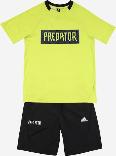 ADIDAS PERFORMANCE Sports suit in lime / black / white, Item view