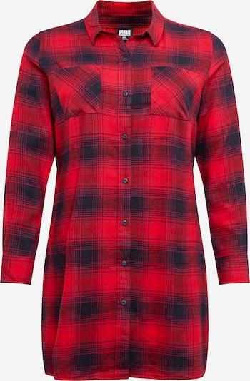 Urban Classics Curvy Blusenkleid in marine / rot, Produktansicht
