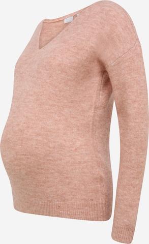 Pieces Maternity Neulepaita 'PERLA' värissä vaaleanpunainen
